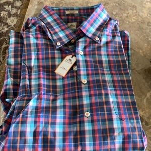 NWT Peter Millar multi color  button down XXL
